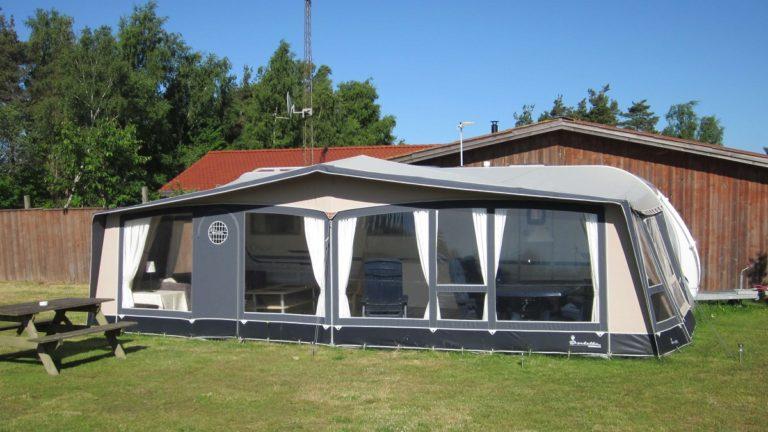 Campingvogn på Læsø Camping