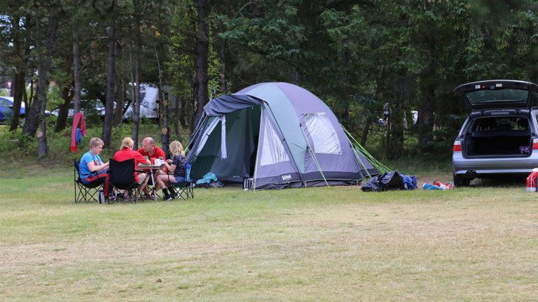 Teltplads på Læsø Camping